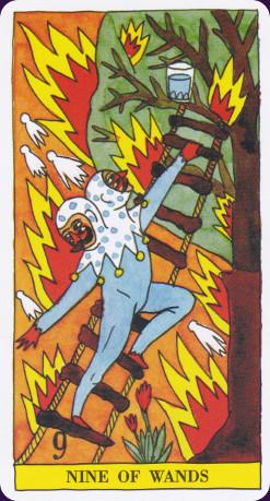 Carta tarot de fuego