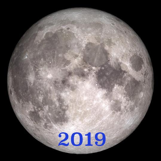 la luna en 2019