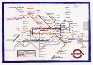 Metro original Harry Beck mapa