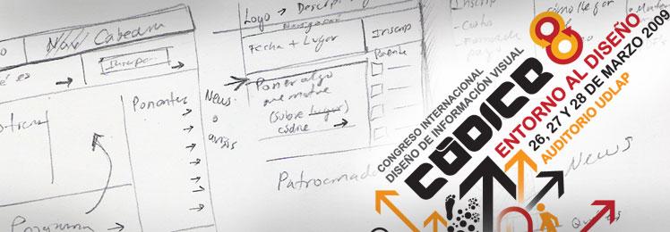 Diseño de la página de Códice 8: Congreso de diseño