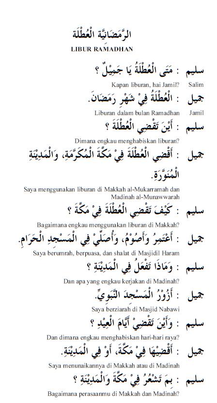 Puasa Dalam Bahasa Arab : puasa, dalam, bahasa, Bahasa, Ramadhan