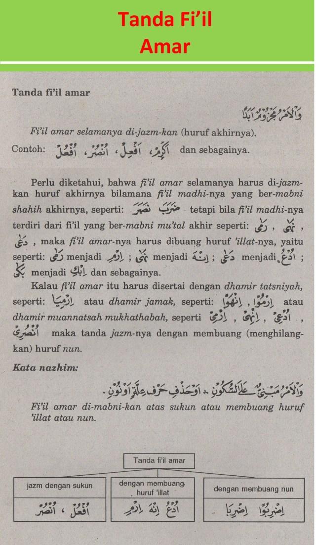 Fi Il Amar : Tanda, Fi'il, Alqur'anmulia