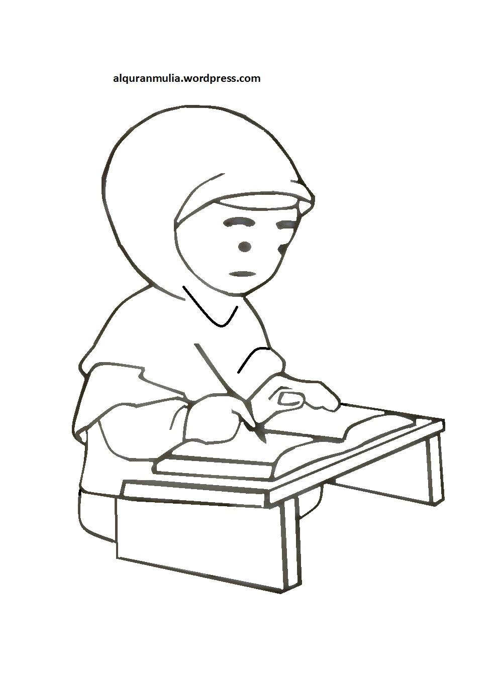 ✓ Gambar Animasi Anak Muslim Belajar