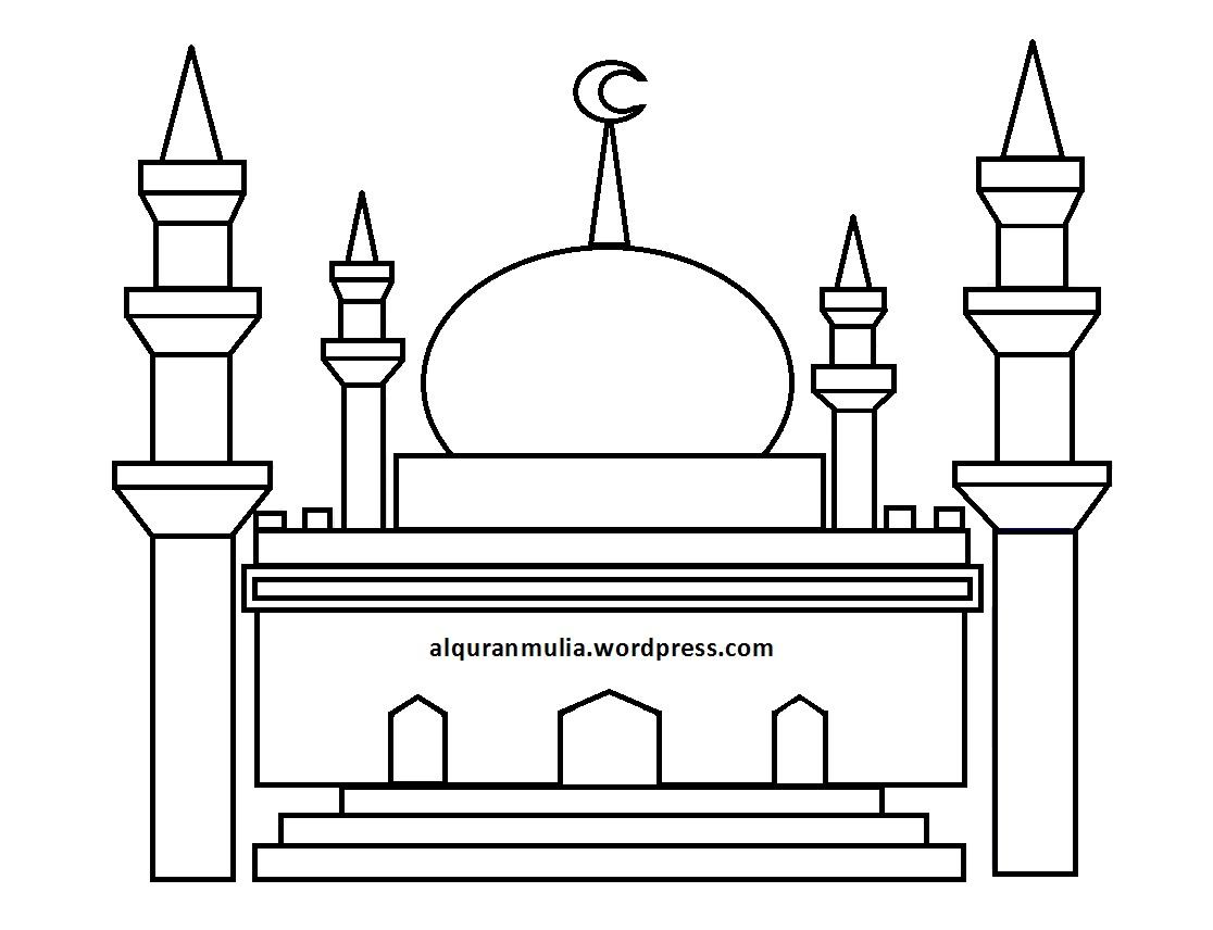 gambar mewarnai masjid gambar mesjid pictures to pin on