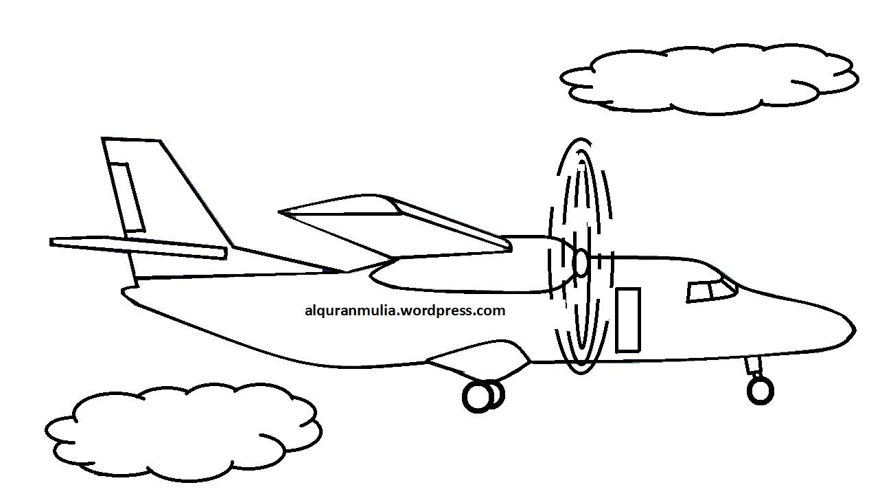 Mewarnai Gambar Pesawat Terbang8 Anak Muslim  alquranmulia