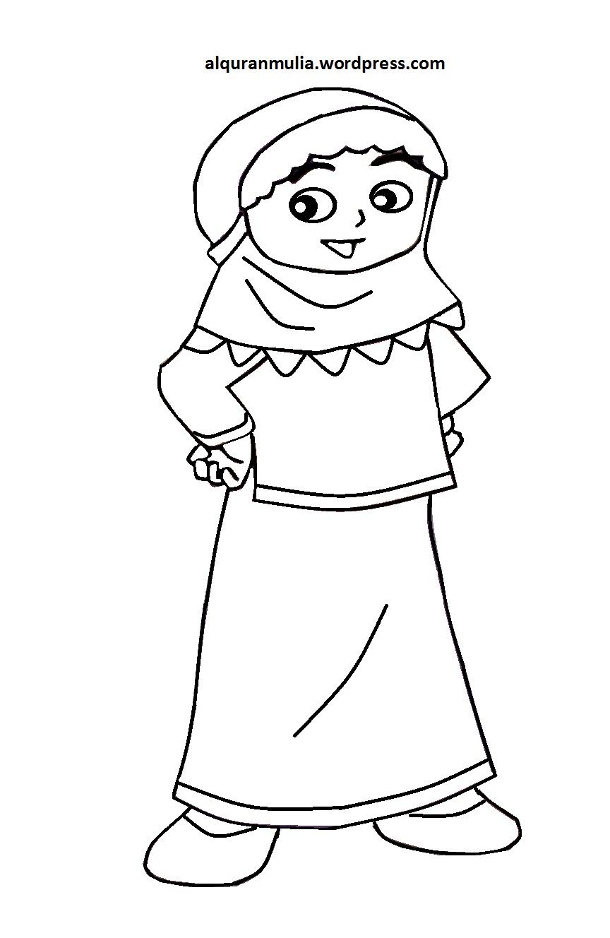 Gambar Kartun Anak Kecil Islami Auto Electrical Wiring Diagram