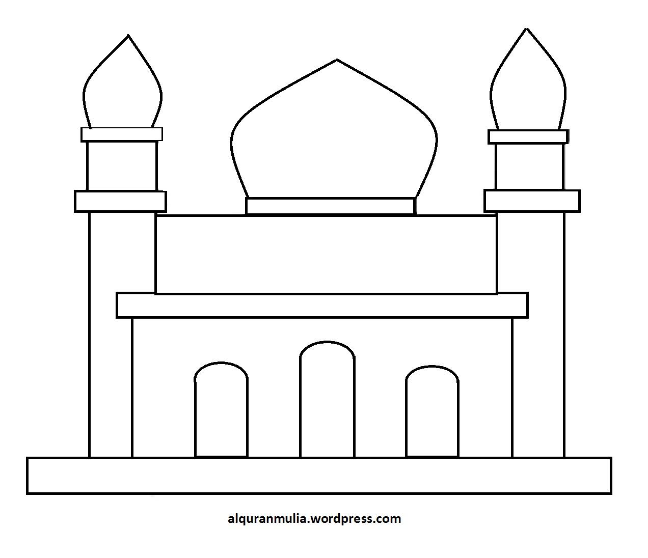 gambar mewarnai masjid download assertion based design