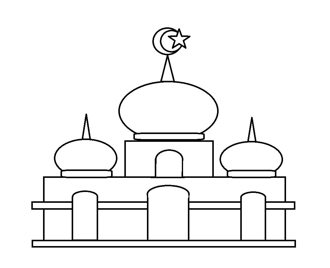 Gambar Masjid Mewarnai