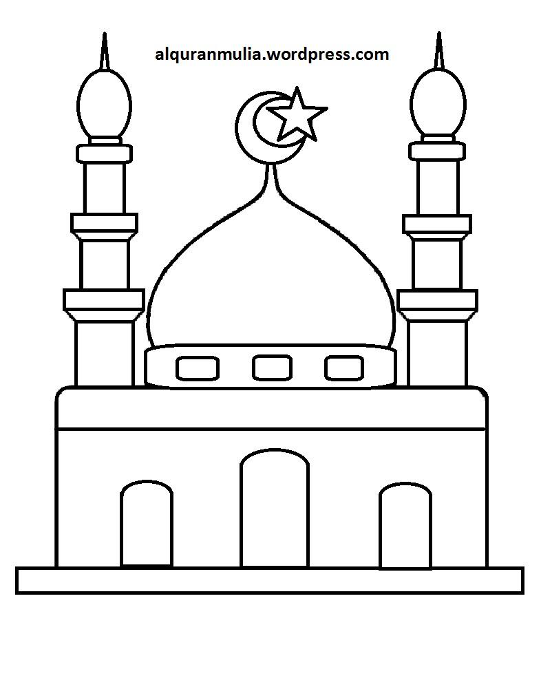 Mewarnai Rumah Ibadah : mewarnai, rumah, ibadah, Coloring, Alqur'anmulia, Laman