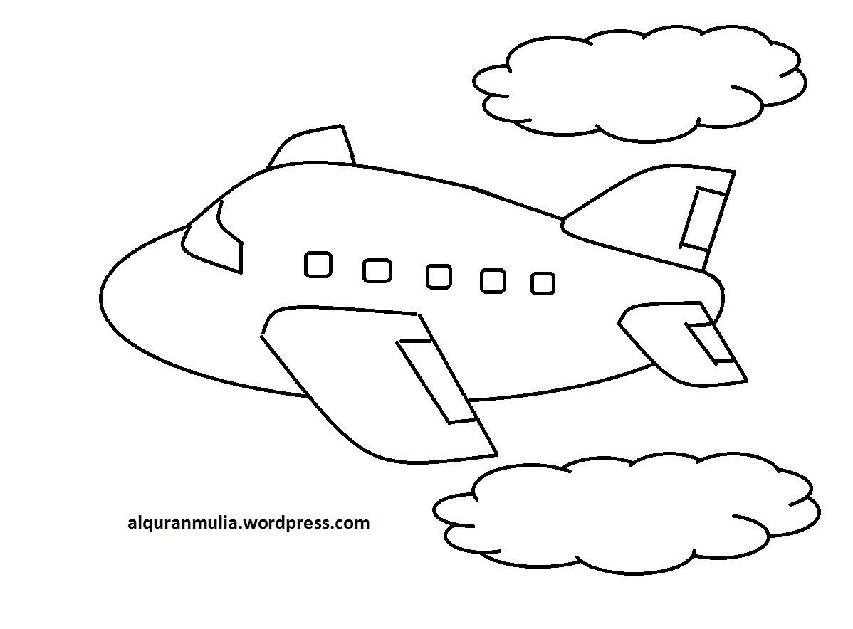 Mewarnai Gambar Pesawat Terbang 23 Anak Muslim  alquranmulia