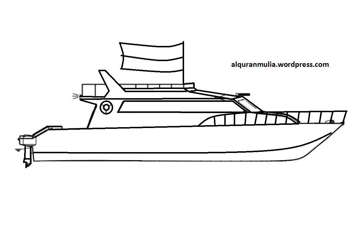 Gambar Mewarnai Gambar Bajak Laut Diatas Perahu Kapal di Rebanas Rebanas