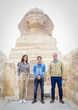 مينا مسعود مع وزيري الهجرة والسياحة