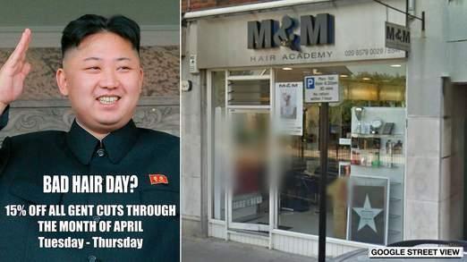 N Korea Escalates Kim Jong Un Hair Poster Row Al Rasub