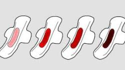 لون دم الدورة الشهرية اسود ماذا يعني