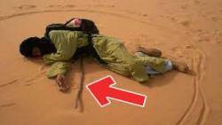 طريقة النوم في الصحراء