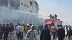 كارثة بمصنع ملابس في مصر بالقليوبية يخلف 16 قتيل