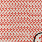 Dekoreret forsats – rød -1138-428