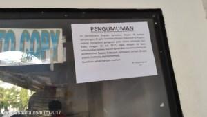 Pengumuman tentang e-paspor di kantor imigrasi jakarta barat image