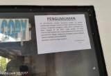 Pengumuman tentang e paspor di kantor imigrasi jakarta barat