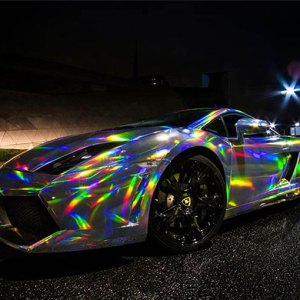 Silver Iridescent Chrome Film