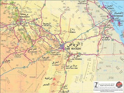 خريطة الأفلاج