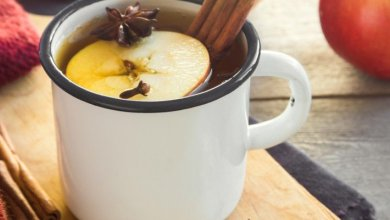 Photo of شاي بالتفاح والقرفة