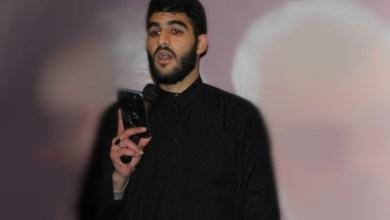 Photo of بالفيديو:لطمية ابن السكسكية محمد حسين حلمي في مجلس عن روح الجنرال قاسم في أنصارية