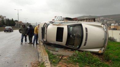 Photo of انقلاب سيارة في كفر رمان