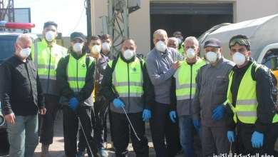 Photo of شعبة السكسكية بالتعاون مع الهيئة الصحية نظمت حملة تعقيم في البلدة