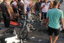 صورة حادث سير بالقرب من مقام النبي ساري