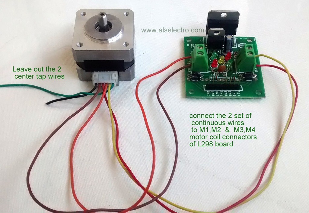 Circuit To Control A 4 Wire Stepper Motor Using A Njm3773 Ic