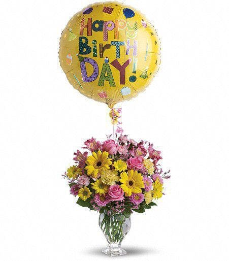 Happy Birthday Flowers And Balloons Delivery