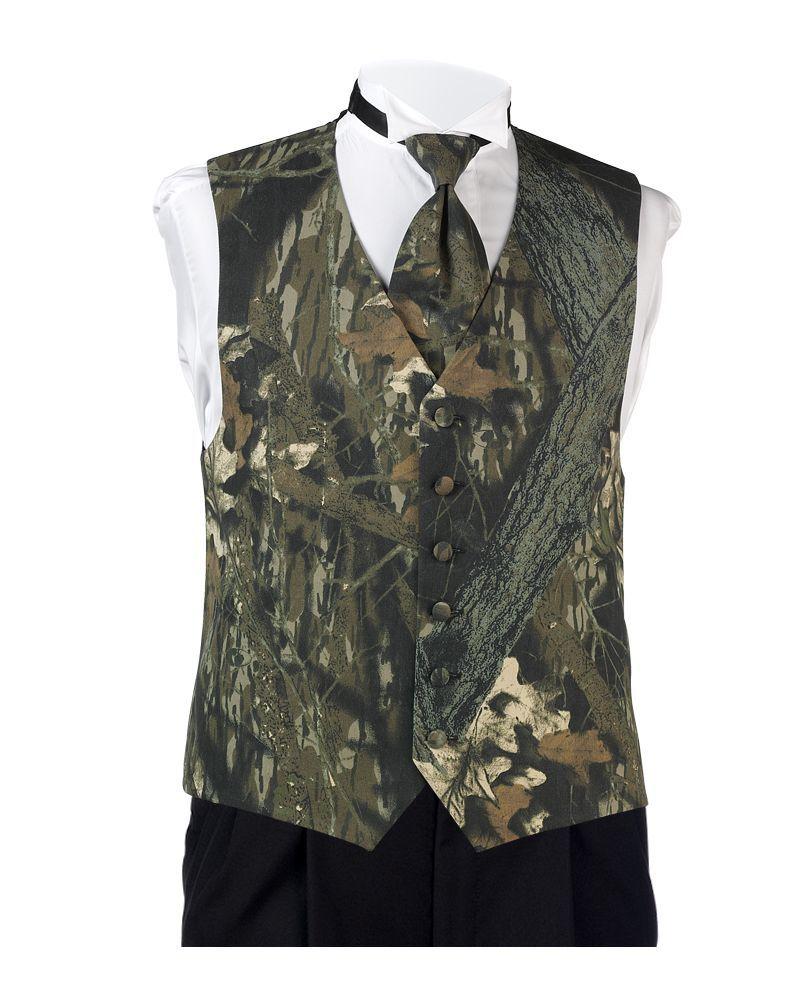 Classic Mossy Oak Camo Vest Al' Formal Wear