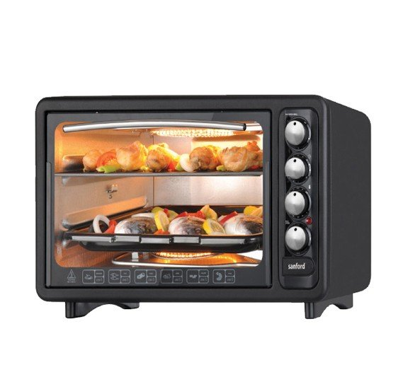 Sanford 40 Litre Microwave Oven with Electric Oven – Black SF5643HOEO