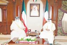 صورة سمو نائب الأمير استقبل الخالد والغانم