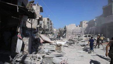Photo of مجزرة مروعة بقصف جوي على مدينة معرة النعمان بريف ادلب (فيديو)