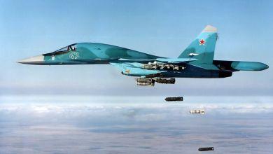 صورة غارات جوية روسية استهدفت بادية ديرالزور واستنفار عسكري كبير للميليشيات فيها