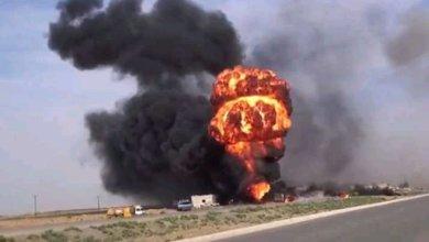 صورة ديرالزور || هجوم لداعش بـ سيارة ملغمة خلف عشرات القتلى من ميليشيا لواء الباقر