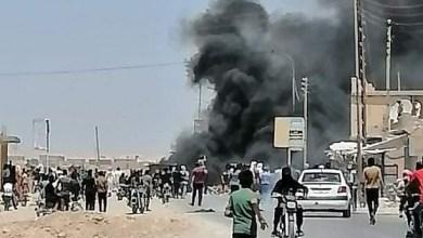 صورة قتلى وجرحى من المدنيين برصاص الميليشيات الكردية خلال قمعها لاحتجاجات في جنوب الحسكة