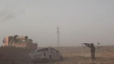 """صورة هجوم """"هو الأوسع لداعش"""" يُباغت ميليشيات الأسد التي فقدت الاتصال بمجموعة من عناصرها في البادية السورية"""