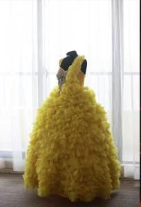 Celebrant's Yellow Gown