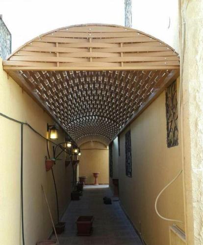 تركيب افضل انواع البرجولات الخشب للحدائق والاسطح