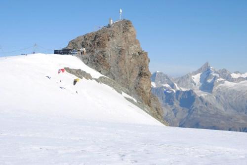 Das Kleinmatterhorn vom Breithornplateau aus