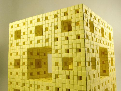 Menger sponge Post It