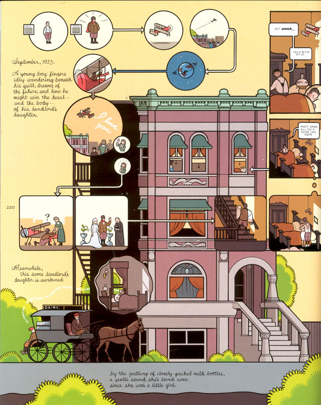 Demi-page de Building Stories, par Chris Ware