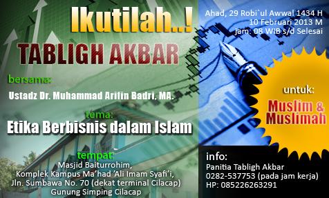 Ikutilah! Tabligh Akbar: Etika Berbisnis dalam Islam