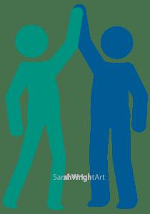 high five illustration