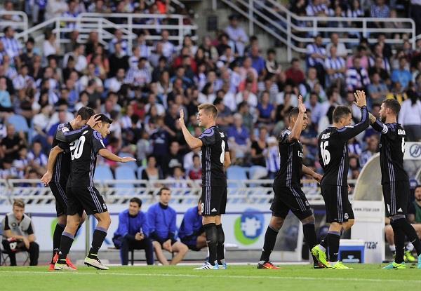 ريال مدريد يتغلب على سوسيداد بثلاثية نظيفة