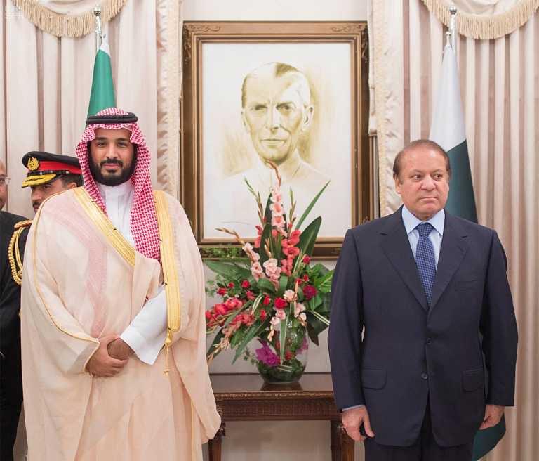 رئيس الوزراء الباكستاني يستقبل ولي ولي العهد