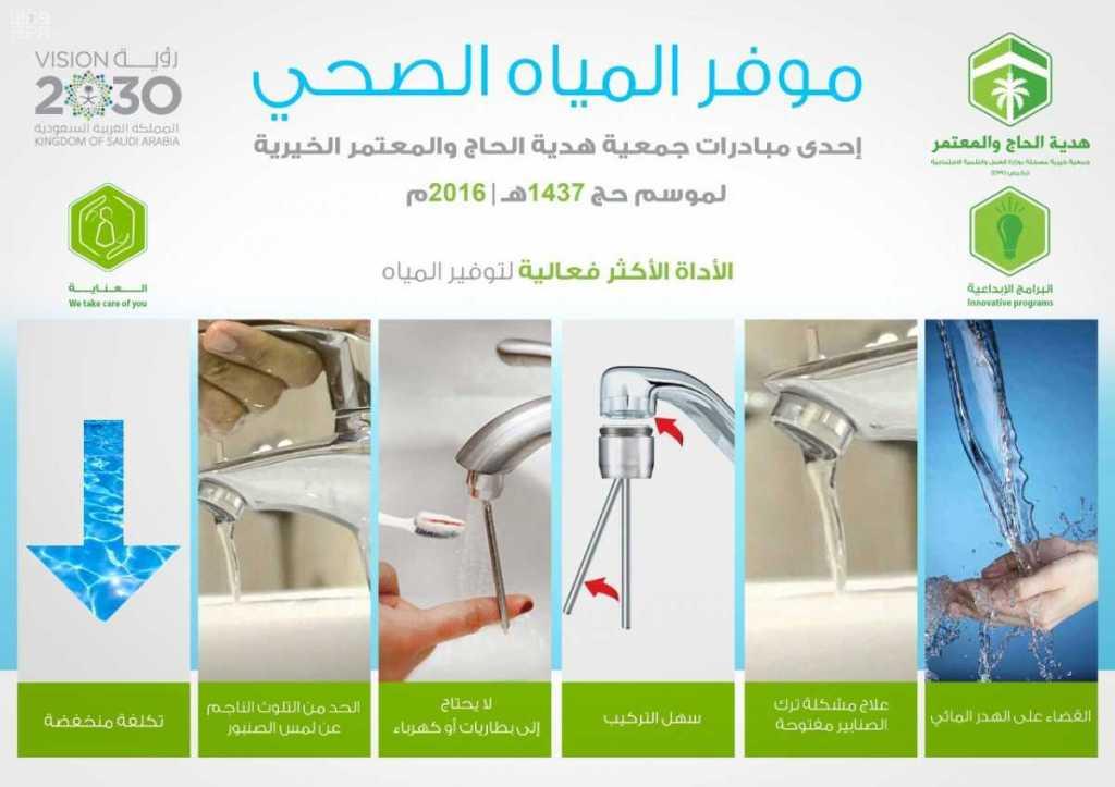 """""""هدية الحاج"""" توفّر 3 آلاف قطعة مُبتكرة توفر 40% من هدر المياه بالحج"""